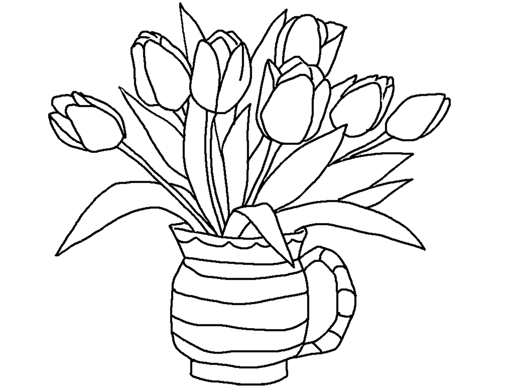 tulips to color free printable tulip coloring pages for kids to color tulips 1 1