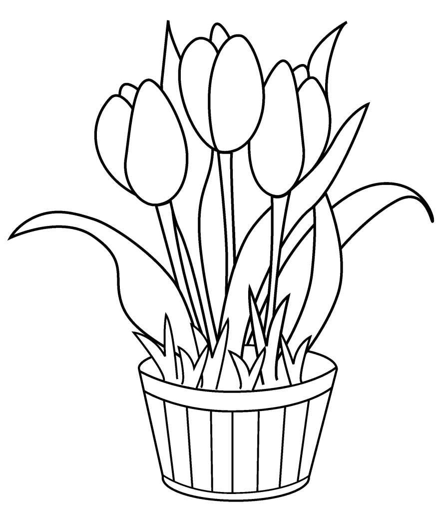 tulips to color two tulips coloring page free printable coloring pages tulips color to