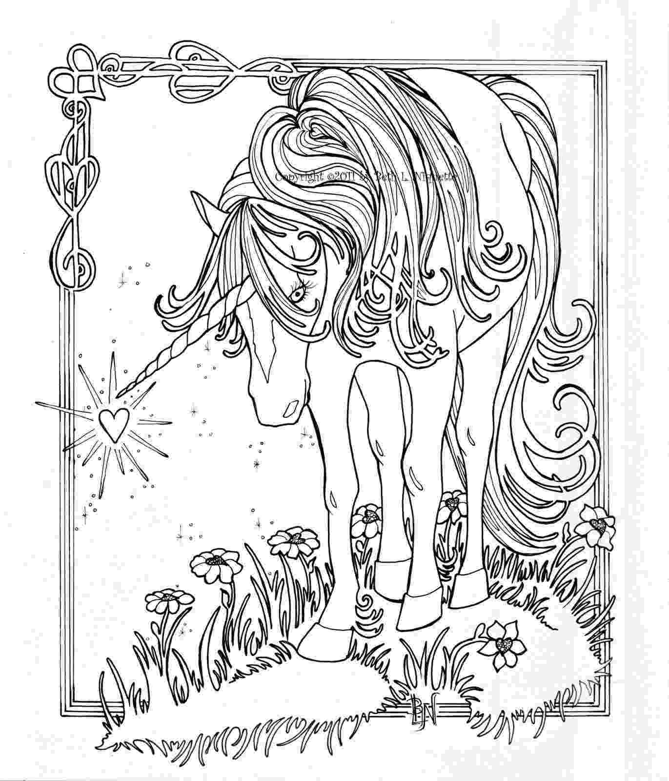 unicorn coloring pages for adults beth39s artworx august 2011 adults for coloring pages unicorn
