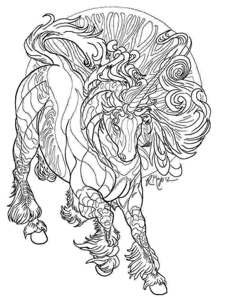 unicorn coloring pages for adults ucicorn horse line work pinterest unicorns horses unicorn coloring for pages adults