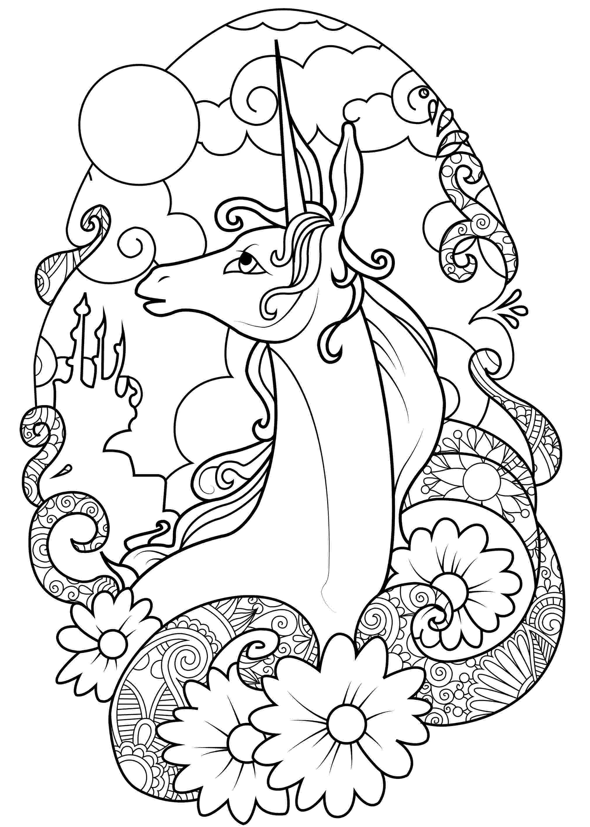 unicorn coloring pages for adults unicorn christmas coloring page adult color book art fantasy unicorn adults coloring for pages