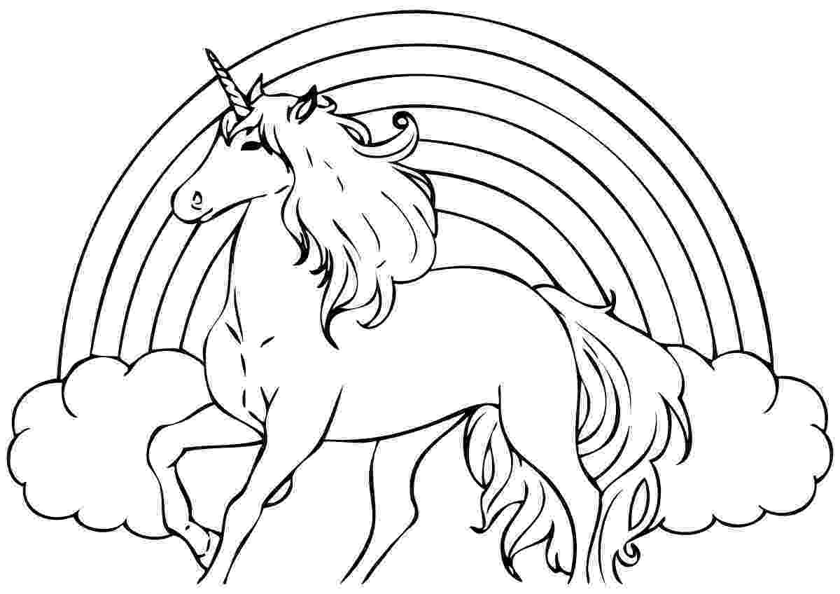 unicorn picture to color unicorn coloring page for kids stock illustration picture unicorn color to
