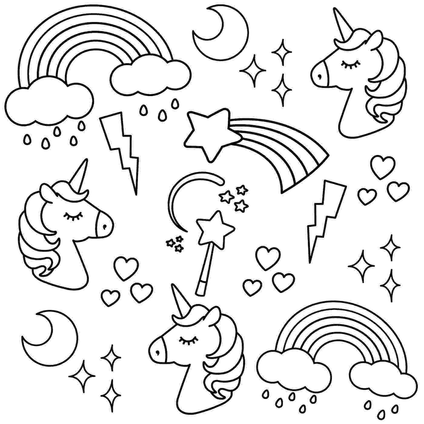 unicorn picture to color unicorn coloring pages free download on clipartmag picture unicorn to color