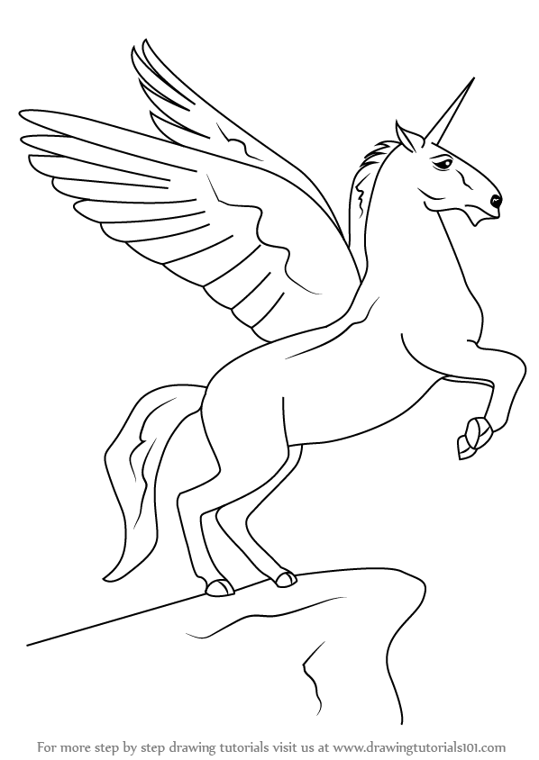 unicorn with wings paper time step by step instructions to draw unicorns with wings unicorn