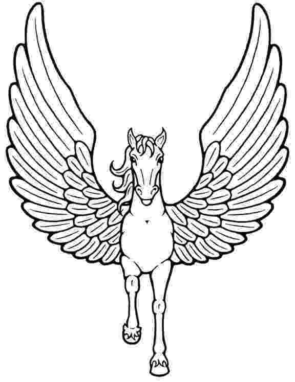 unicorn with wings unicorn pegasus coloring pages az coloring pages unicorn with wings
