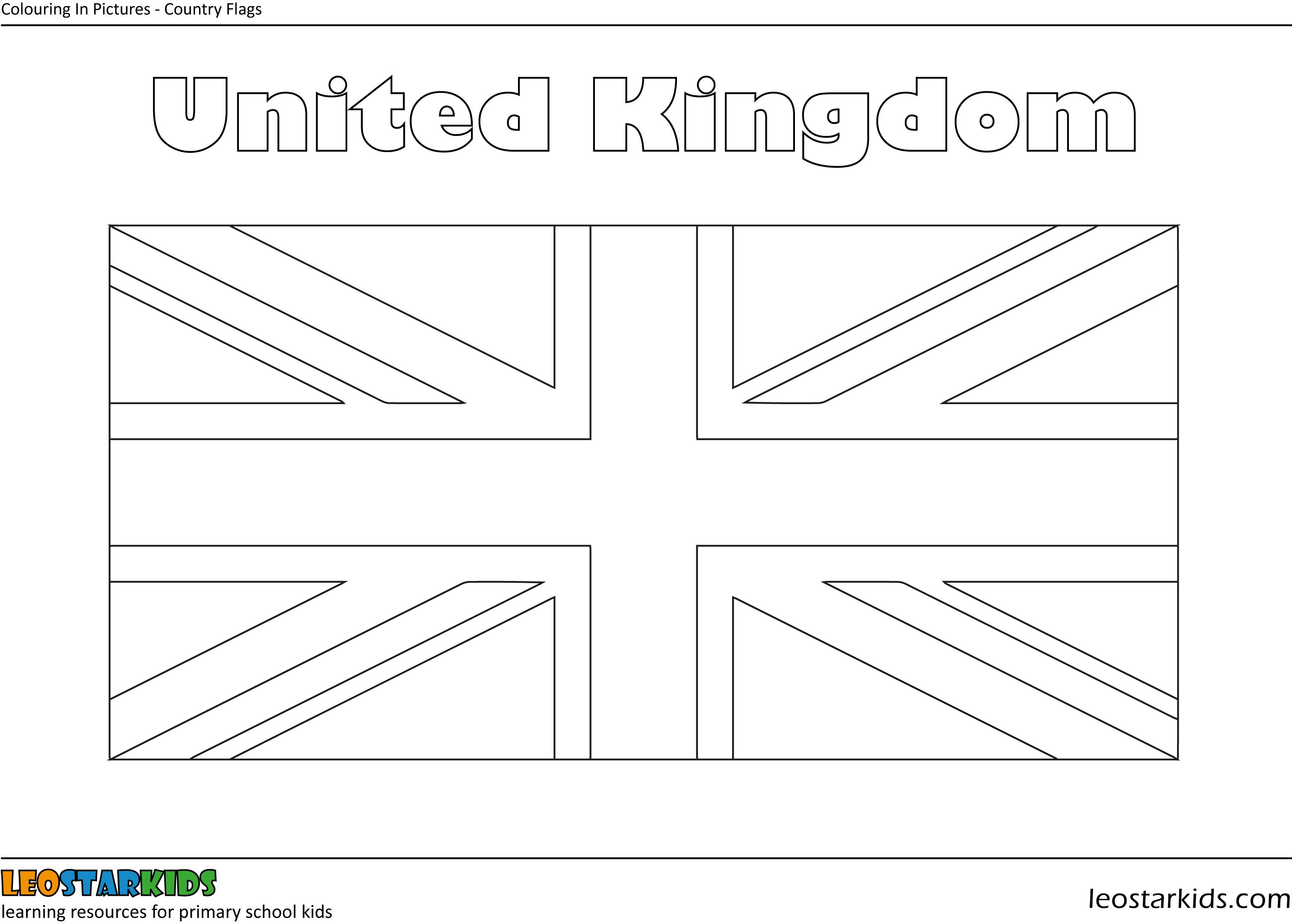 united kingdom flag to colour flag of great britainenglandunited kingdom flag coloring united flag kingdom to colour