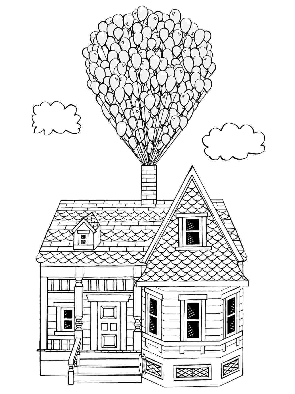 up house coloring pages disney up coloring pages getcoloringpagescom coloring house up pages