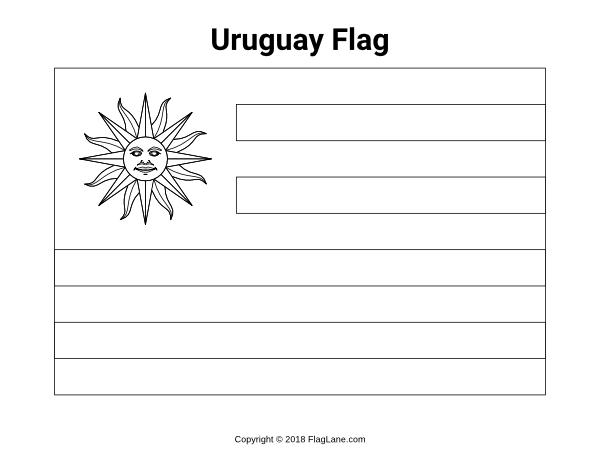 uruguay flag coloring page free uruguay flag coloring page uruguay page flag coloring