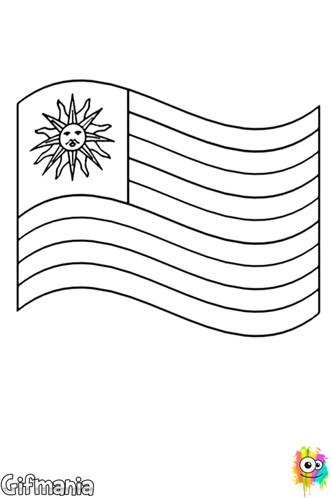 uruguay flag coloring page world flags coloring pages page uruguay coloring flag