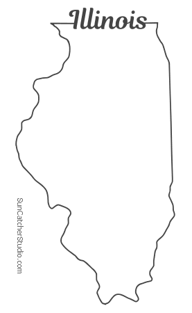 vector illinois illinois map outline printable state shape stencil vector illinois
