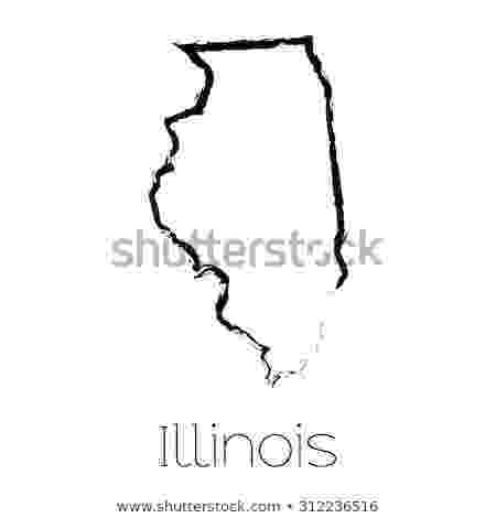 vector illinois illinois state outline stock photos images pictures illinois vector 1 1