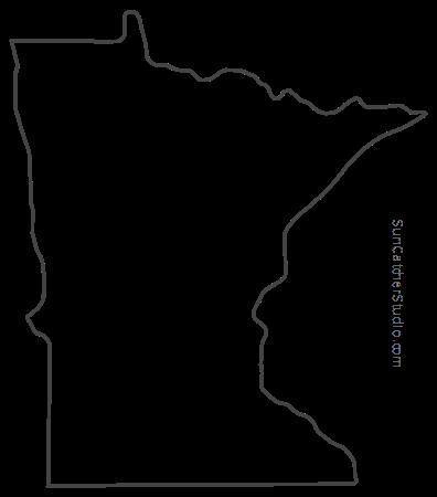 vector minnesota minnesota map outline printable state shape stencil minnesota vector