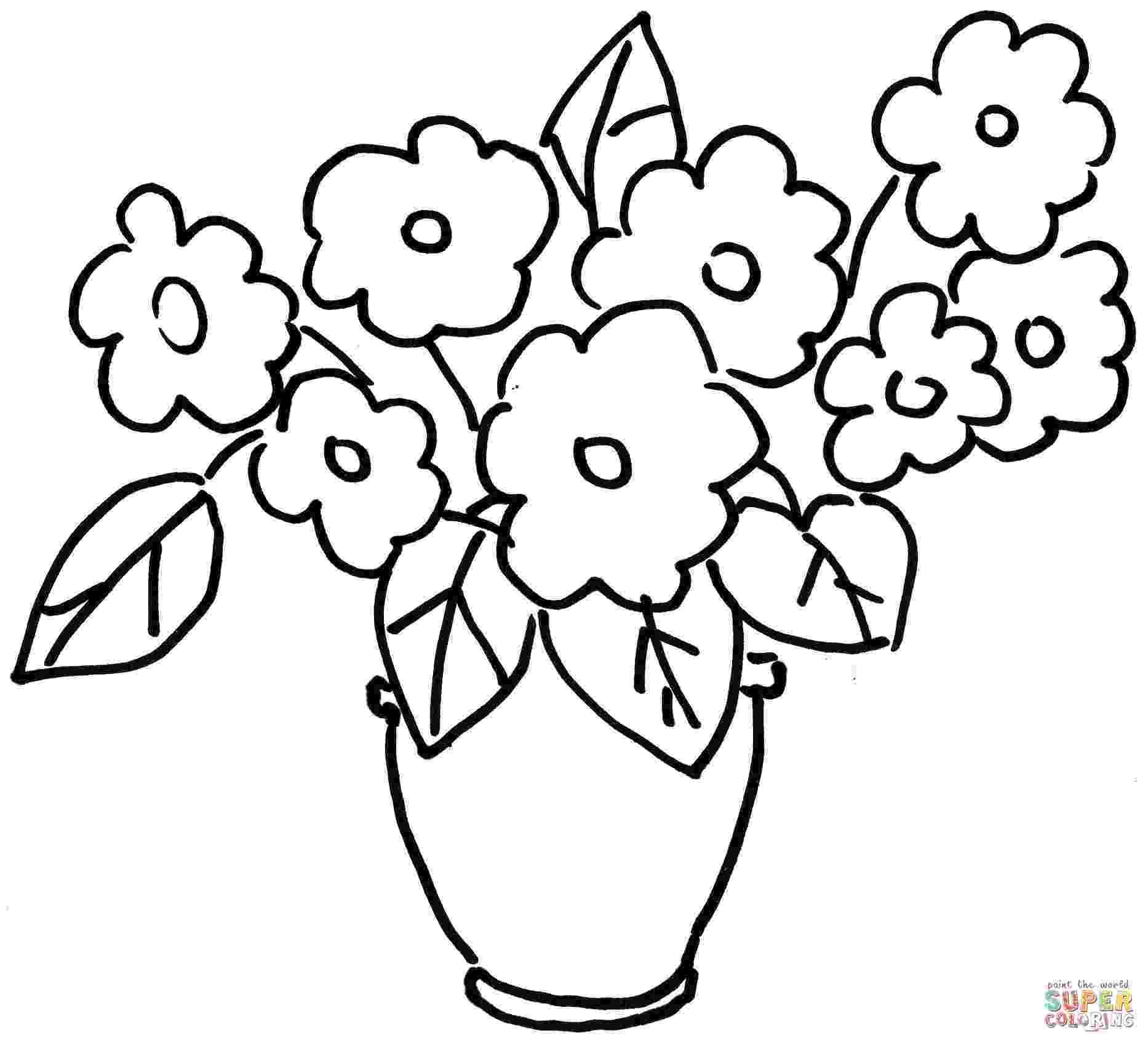 violet flower coloring page violet flower drawing at getdrawingscom free for coloring flower violet page