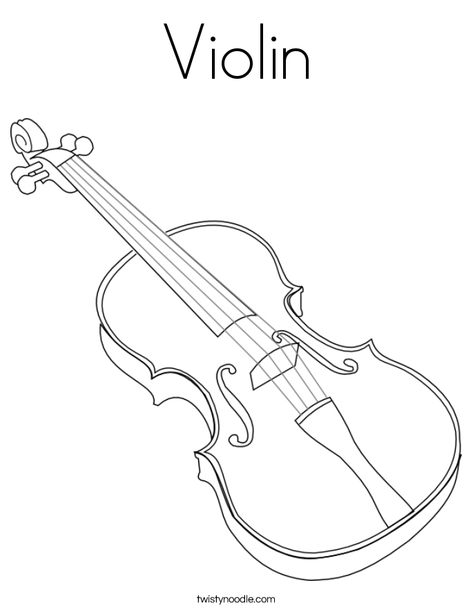 violin pictures to print violin coloring page twisty noodle print to violin pictures