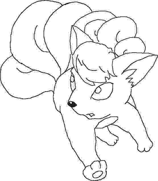 vulpix coloring pages transmissionpress cartoon pokemon vulpix colorig pages coloring pages vulpix