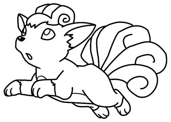 vulpix coloring pages transmissionpress cartoon pokemon vulpix colorig pages coloring vulpix pages