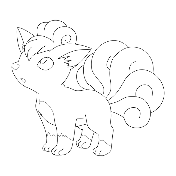 vulpix coloring pages vulpix lineart by tobiseh on deviantart vulpix coloring pages