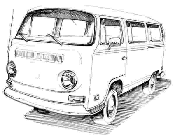 vw bus sketch classic vw 21 window mini bus illustration photograph by bus vw sketch