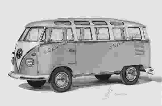 vw bus sketch eskiz karakalem sketch volkswagen bus www bus vw sketch