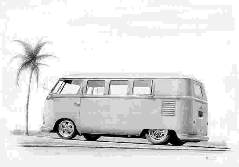 vw bus sketch hot rod drawings hot rod art and drawings alan vw sketch bus