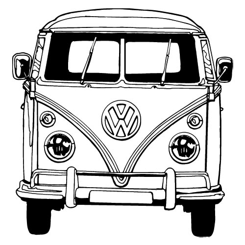 vw bus sketch how to draw a vw bus step by step drawing tutorials sketch vw bus