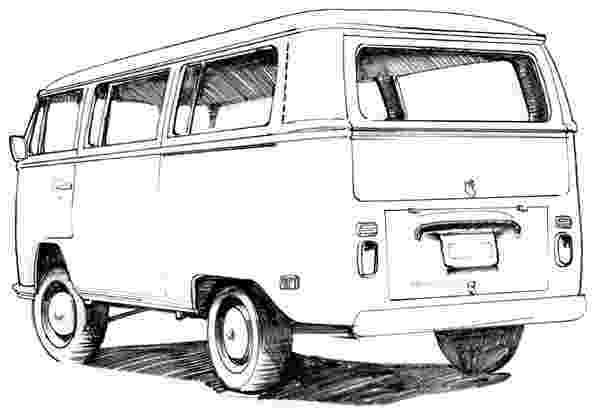 vw bus sketch line art in photoshop vintage vw bus speedpaint youtube sketch vw bus