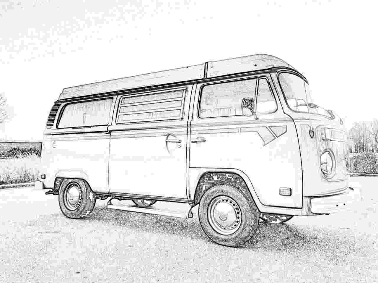 vw bus sketch pauls splitscreen van project custom paint design sketch bus vw
