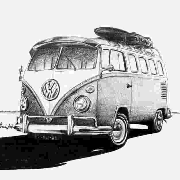 vw bus sketch thesambacom view topic blue prints or outline sketch sketch bus vw