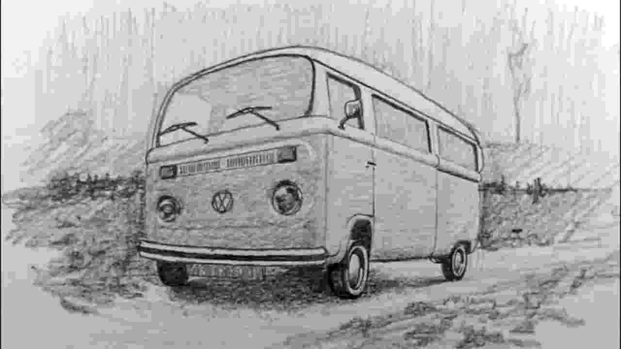 vw bus sketch thesambacom view topic blue prints or outline sketch vw bus sketch