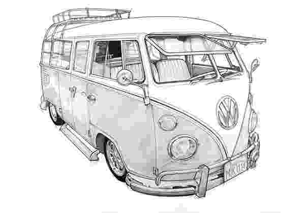 vw bus sketch volkswagen t1 original car drawing instant by sketch vw bus