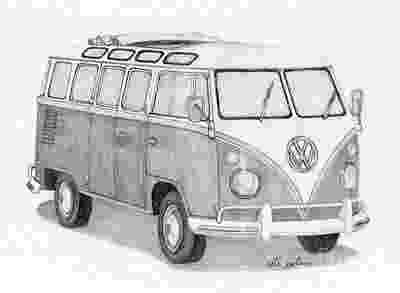 vw bus sketch vw camper van sketch inspiration pinterest vw camper vw sketch bus