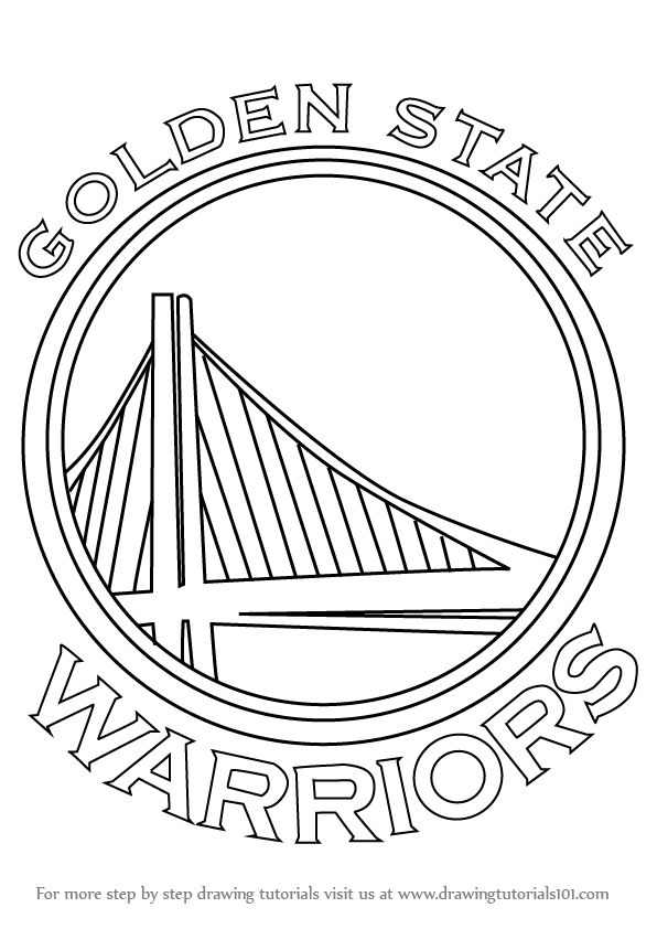 warriors coloring pages learn how to draw golden state warriors logo nba step by coloring warriors pages