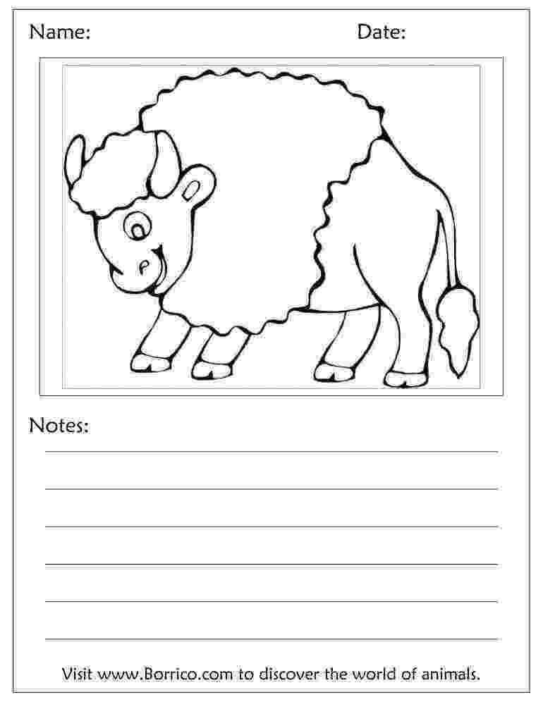 water buffalo coloring page buffalo coloring pages 26 39buffalo39 worksheets for kids buffalo coloring page water