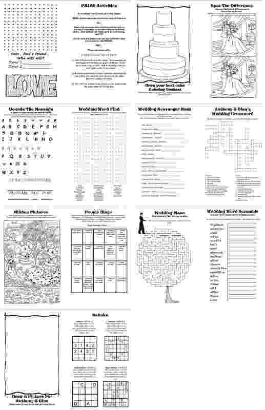 wedding coloring book activities wedding activity book design by divertenti on etsy coloring book activities wedding