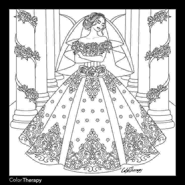 wedding dress coloring pages 308 best fashion coloring pages for adults images on dress wedding coloring pages
