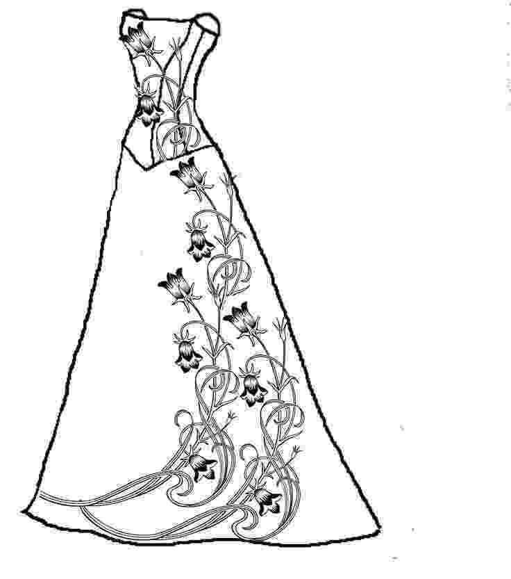 wedding dress coloring pages wedding dress coloring page for girls printable free coloring dress wedding pages