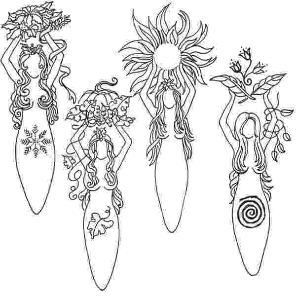 wiccan coloring pages goddess designs spirit dolls friends wicca dibujos pages wiccan coloring