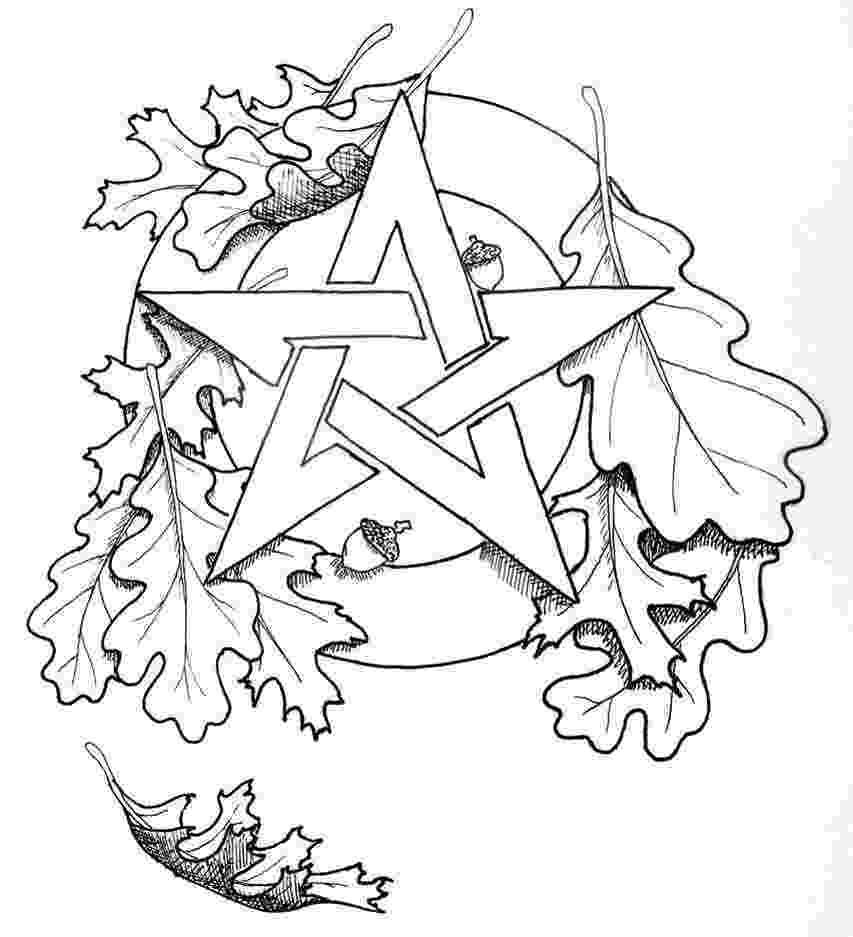 wiccan coloring pages pentacle drawing at getdrawingscom free for personal coloring pages wiccan