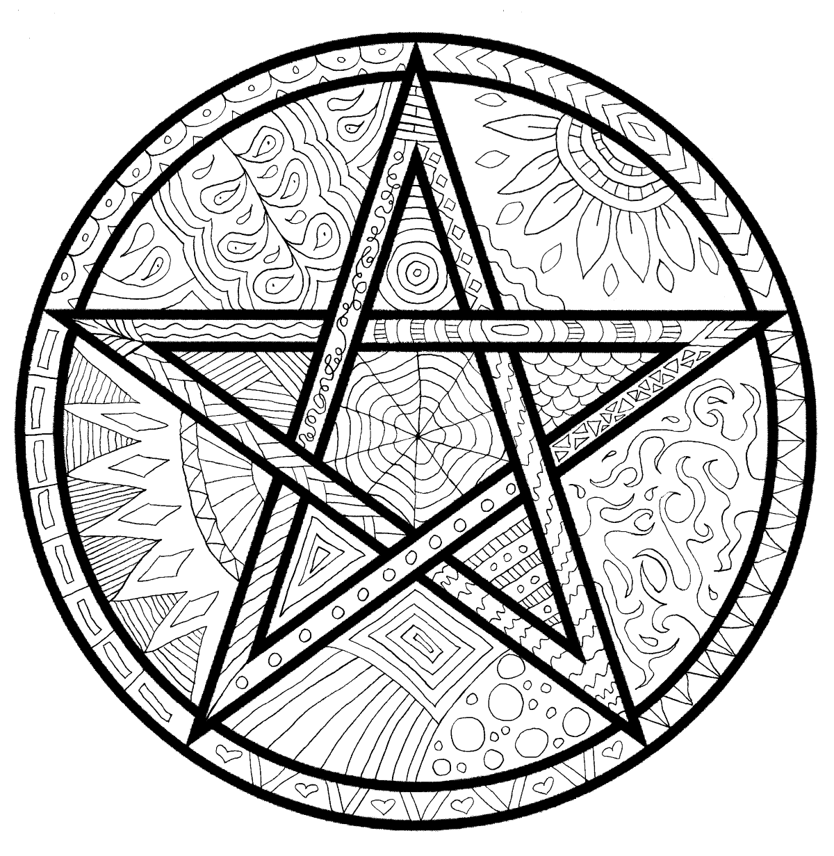 wiccan coloring pages pentacle oak leaf coloring page leaf coloring page coloring pages wiccan