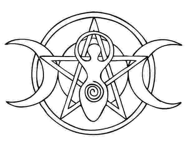 wiccan coloring pages wiccan pentagram coloring sketch coloring page wiccan pages coloring