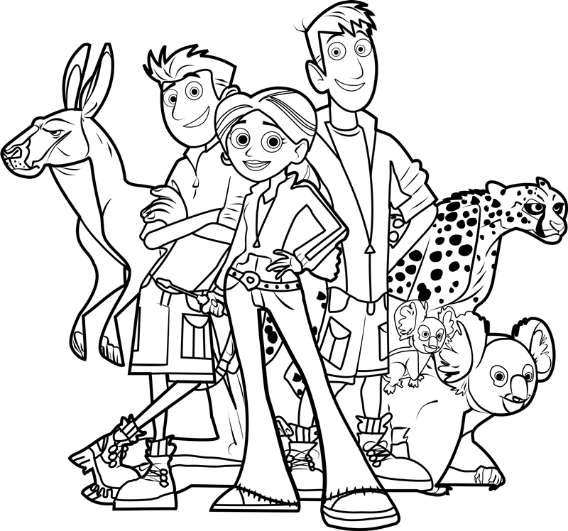 wild kratts pictures wild kratts coloring pages free printable kids wild pictures kratts