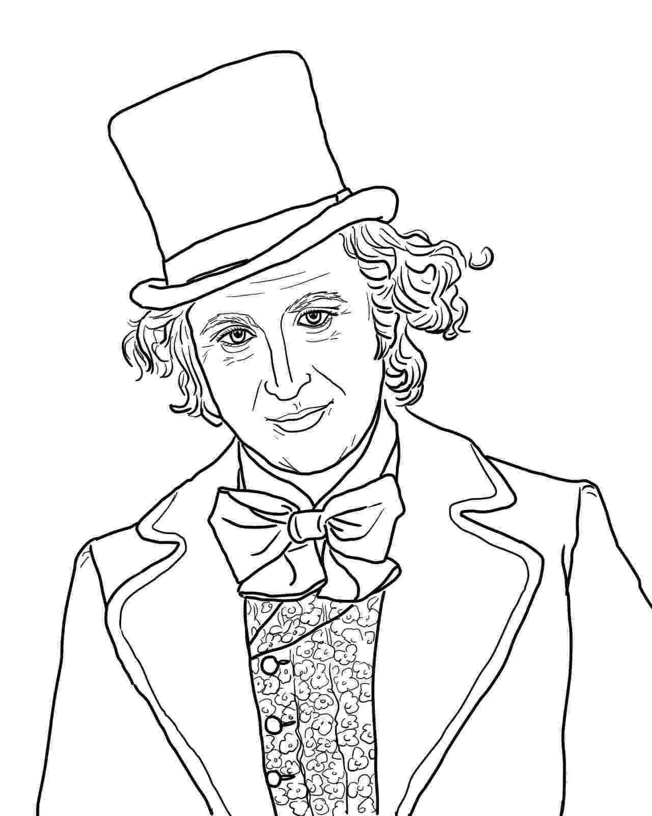 willy wonka coloring pages willy wonka with gene wilder coloring page from charlie wonka willy coloring pages