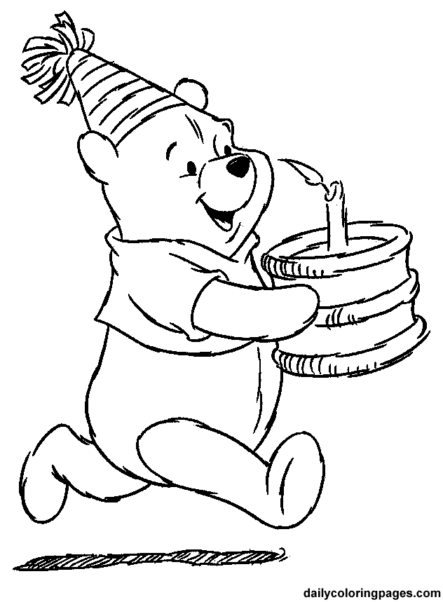 winnie pooh colouring pages winnie the pooh coloring pages birthday colouring winnie pages pooh