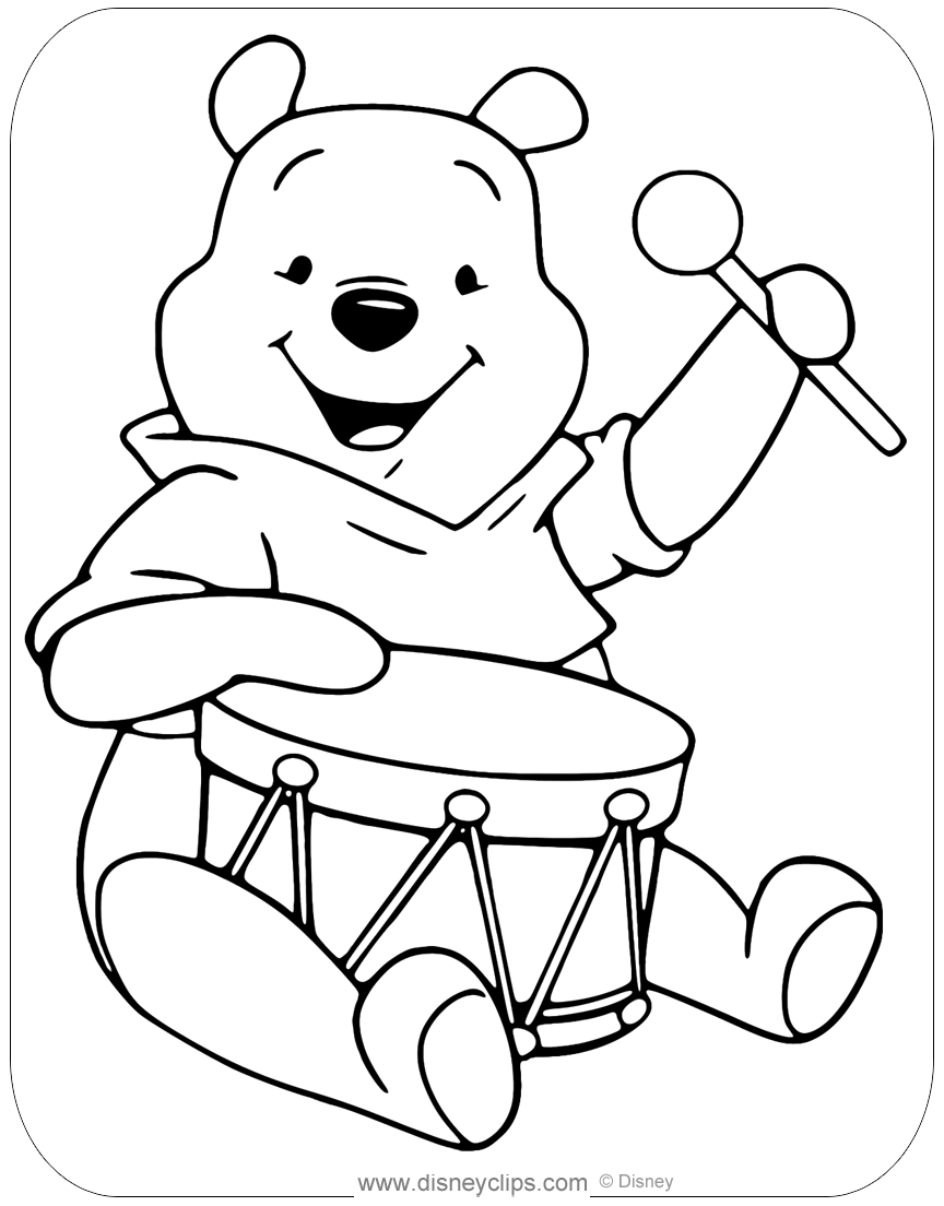 winnie pooh colouring pages winnie the pooh coloring pages disneyclipscom winnie pooh colouring pages