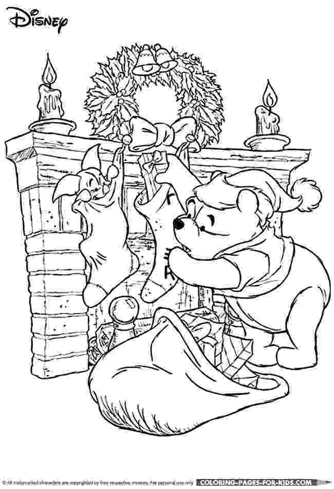 winnie the pooh christmas coloring pages disney christmas coloring page for kids winnie the pooh coloring the christmas winnie pages pooh
