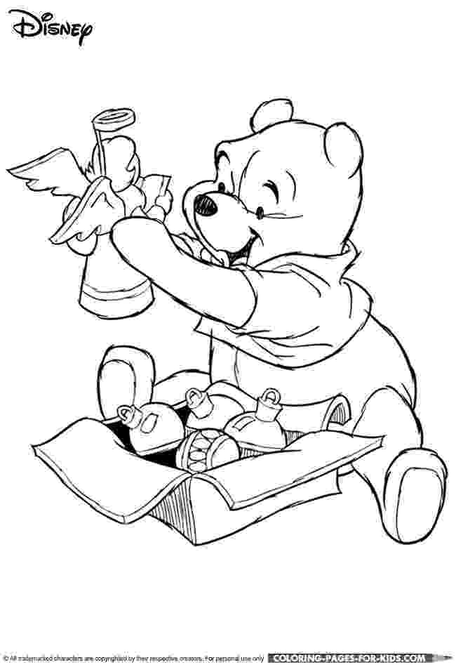winnie the pooh christmas coloring pages disney christmas coloring page winnie the pooh christmas winnie christmas the pages pooh coloring