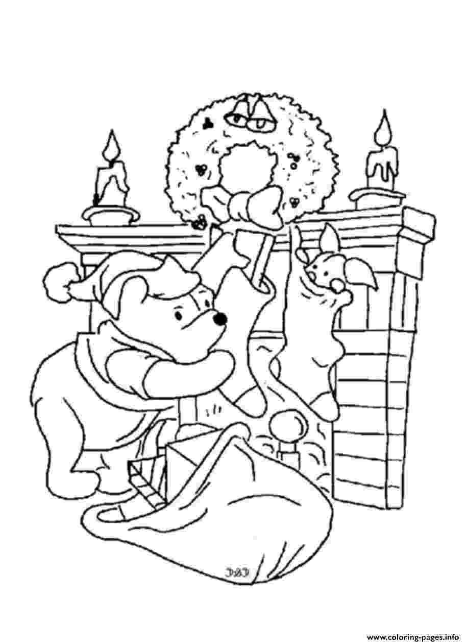 winnie the pooh christmas coloring pages disney coloring pages coloring pooh christmas winnie pages the