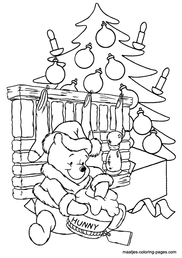 winnie the pooh christmas coloring pages winnie the pooh christmas coloring pages pages the coloring pooh winnie christmas