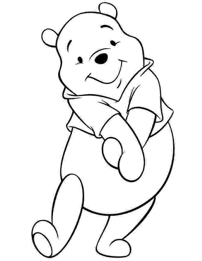 winnie the pooh template winnie the pooh printable coloring pages 6 disney template the pooh winnie
