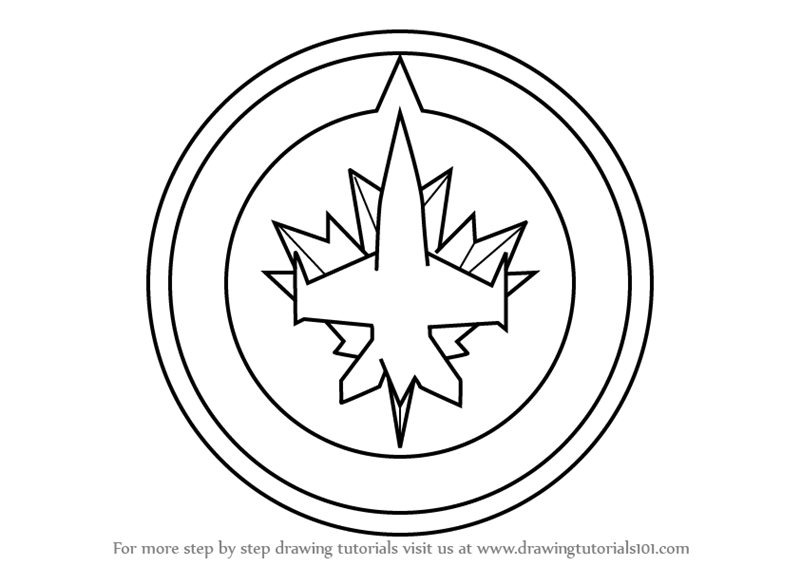 winnipeg jets coloring pages learn how to draw winnipeg jets logo nhl step by step winnipeg pages jets coloring